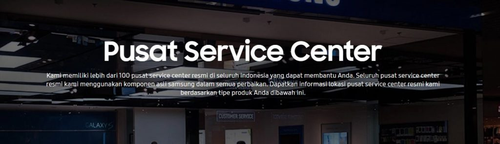 pusat service center samsung smartphone