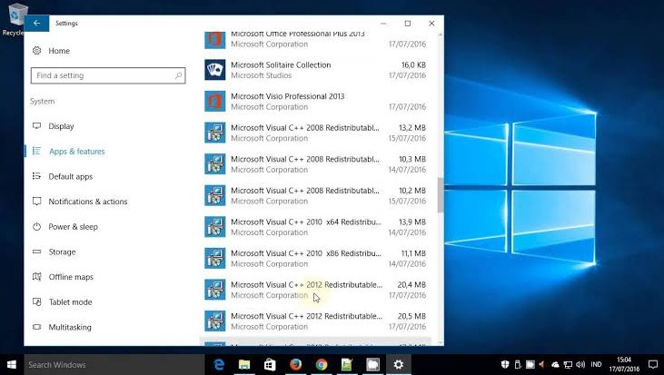 menghapus program di windows 10