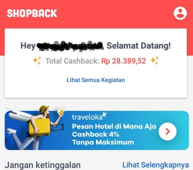 contoh cashback belanja online shopback