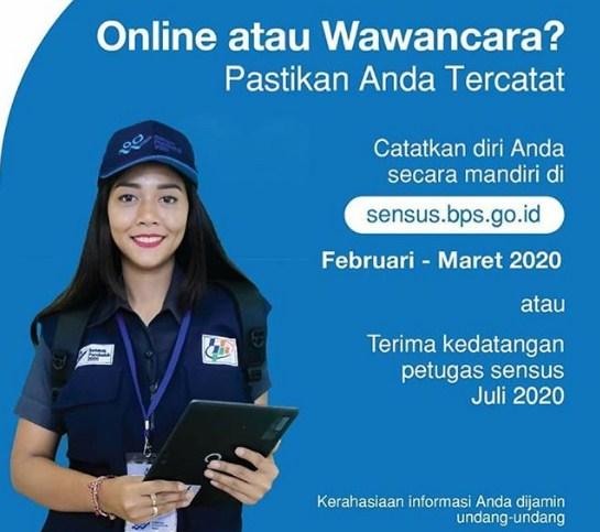 jadwal sensus penduduk online 2020
