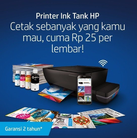 kelebihan printer Hp Ink tank 310