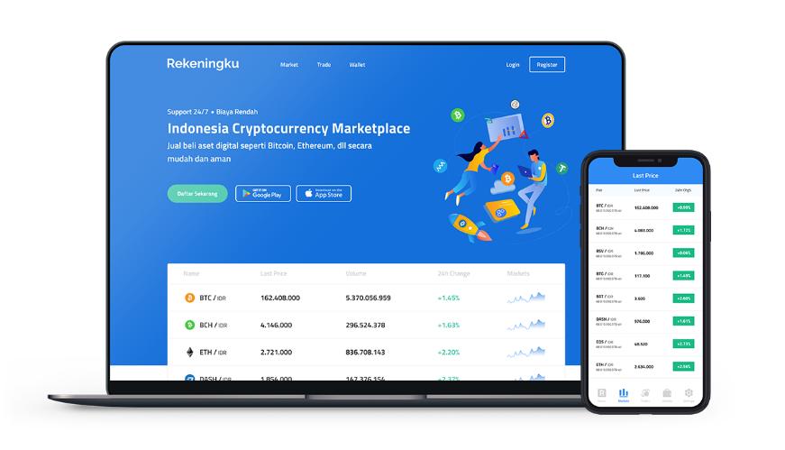 Aplikasi Exchange crypto Rekeningku