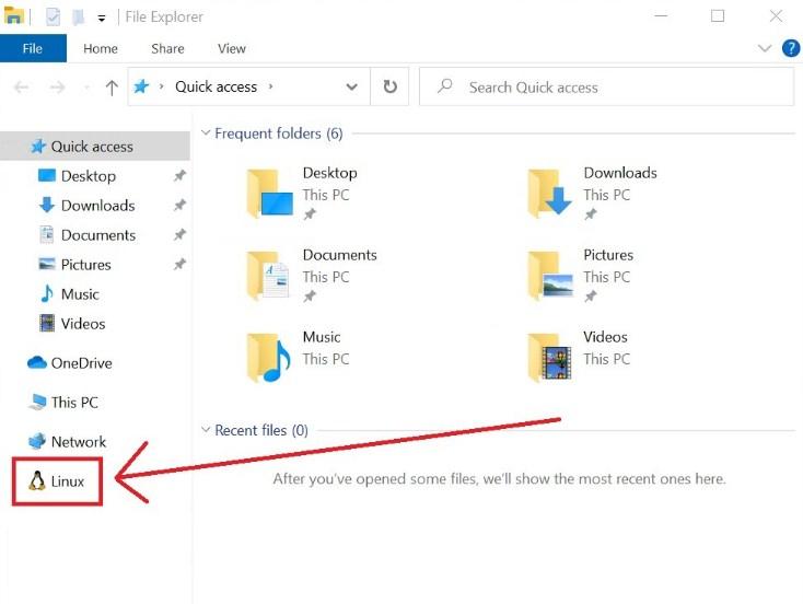 Dukungan file Linux di windows 10