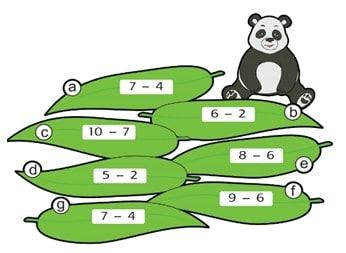 Hitungan pucuk bambu panda