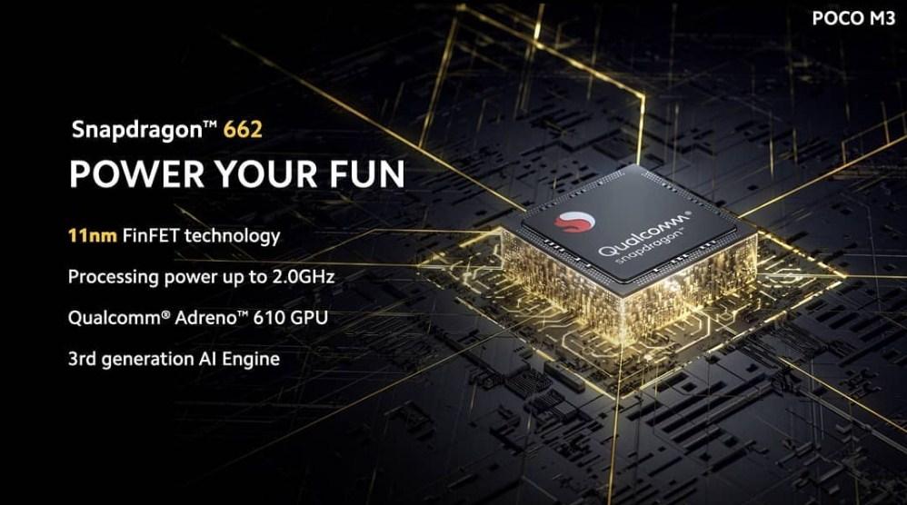 Prosesor Poco M3 Snapdragon 662