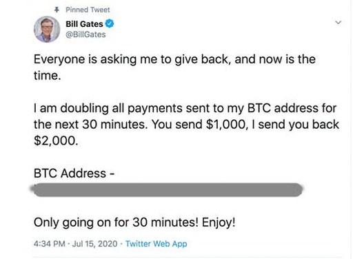 akun twitter bill gates di hack