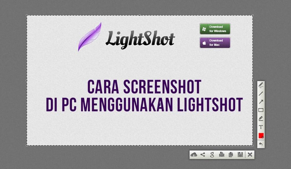cara screenshot menggunakan lightsot