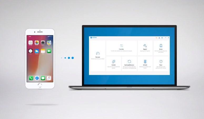 drfone untuk transfer chat whatsapp dari iphone ke android
