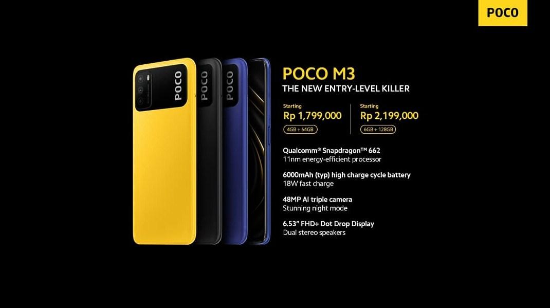 info harga baru hp Poco M3