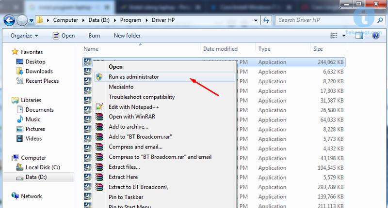 instal program di laptop