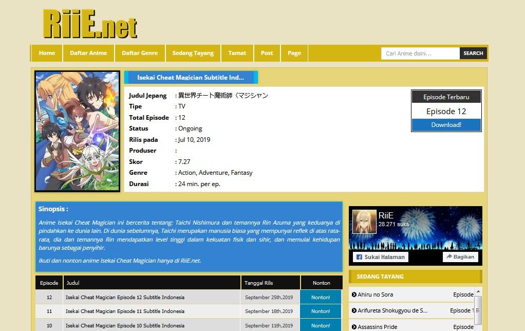 riie nonton anime online