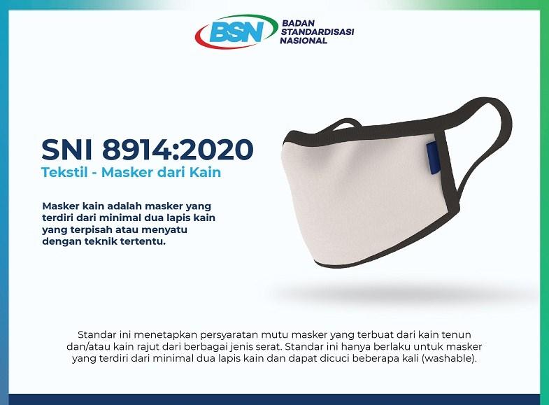 sekarang wajib penggunaan masker SNI