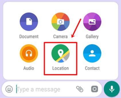 share lokasi whatsapp