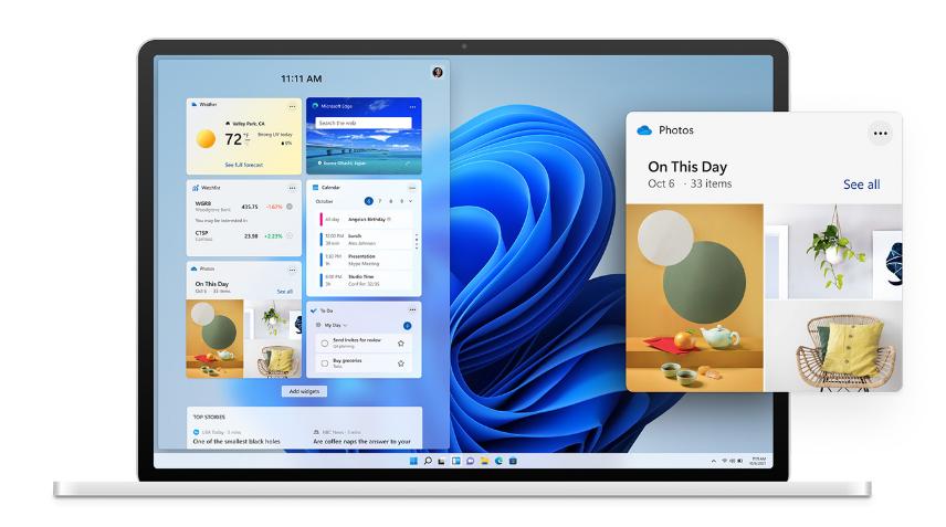tampilan dan widget baru di windows 11